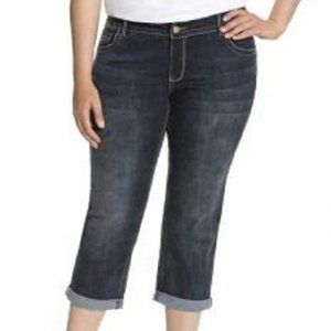 Lane Bryant Genius Fit Capri Jeans 24 CP8